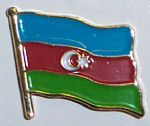 Azerbaijan Country Flag Enamel Pin Badge